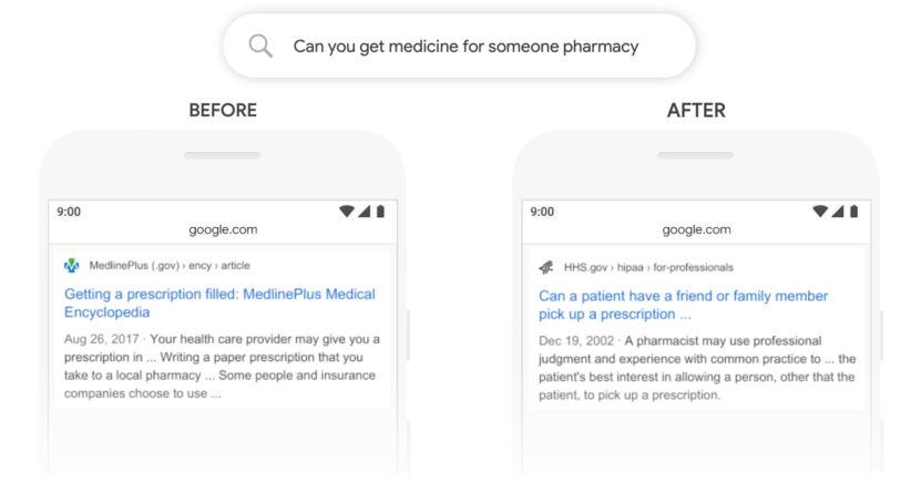 Mögliches Google Suchergebnis nach Update BERT